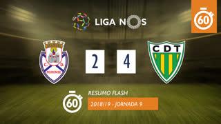 Liga NOS (9ªJ): Resumo Flash CD Feirense 2-4 CD Tondela