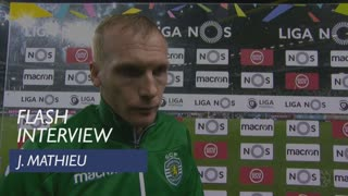Liga (13ª): Flash interview J. Mathieu