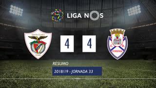 Liga NOS (33ªJ): Resumo Santa Clara 4-4 CD Feirense