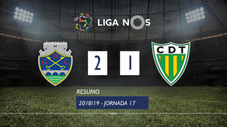 Liga NOS (17ªJ): Resumo GD Chaves 2-1 CD Tondela
