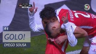 GOLO! SC Braga, Dyego Sousa aos 44', SC Braga 2-0 CD Feirense