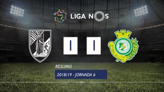 Liga NOS (6ªJ): Resumo Vitória SC 1-1 Vitória FC