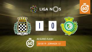 Liga NOS (15ªJ): Resumo Flash Boavista FC 1-0 Vitória FC