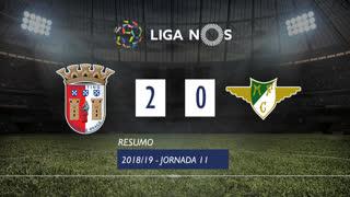 Liga NOS (11ªJ): Resumo SC Braga 2-0 Moreirense FC