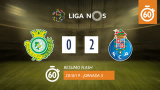 Liga NOS (5ªJ): Resumo Flash Vitória FC 0-2 FC Porto