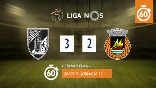 Liga NOS (12ªJ): Resumo Flash Vitória SC 3-2 Rio Ave FC