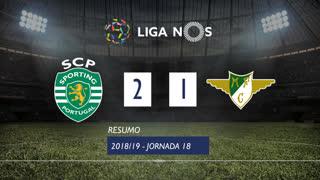 Liga NOS (18ªJ): Resumo Sporting CP 2-1 Moreirense FC