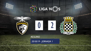 Liga NOS (1ªJ): Resumo Portimonense 0-2 Boavista FC
