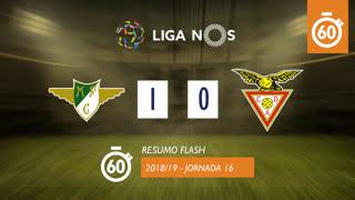 Liga NOS (16ªJ): Resumo Flash Moreirense FC 1-0 CD Aves
