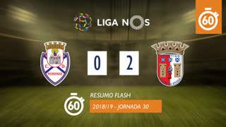 Liga NOS (30ªJ): Resumo Flash CD Feirense 0-2 SC Braga