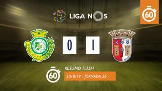 Liga NOS (26ªJ): Resumo Flash Vitória FC 0-1 SC Braga
