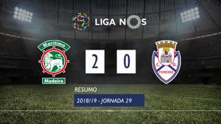 Liga NOS (29ªJ): Resumo Marítimo M. 2-0 CD Feirense