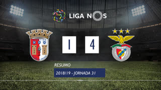 Liga NOS (31ªJ): Resumo SC Braga 1-4 SL Benfica