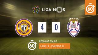 Liga NOS (22ªJ): Resumo Flash CD Nacional 4-0 CD Feirense