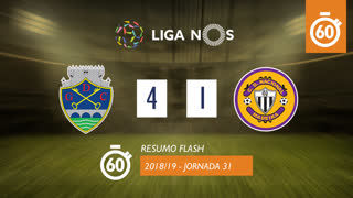 Liga NOS (31ªJ): Resumo Flash GD Chaves 4-1 CD Nacional