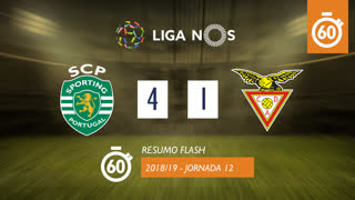 Liga NOS (12ªJ): Resumo Flash Sporting CP 4-1 CD Aves