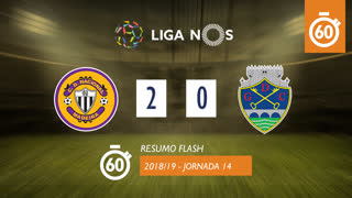 Liga NOS (14ªJ): Resumo Flash CD Nacional 2-0 GD Chaves