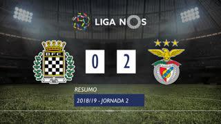 Liga NOS (2ªJ): Resumo Boavista FC 0-2 SL Benfica