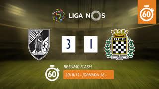 I Liga (26ªJ): Resumo Flash Vitória SC 3-1 Boavista FC