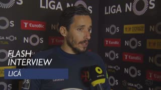 Liga (19ª): Flash interview Licá