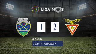 Liga NOS (9ªJ): Resumo GD Chaves 1-2 CD Aves