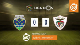 I Liga (24ªJ): Resumo Flash GD Chaves 0-0 Sta. Clara