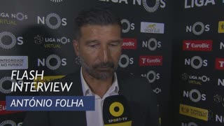 Liga (29ª): Flash Interview António Folha