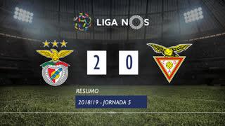 Liga NOS (5ªJ): Resumo SL Benfica 2-0 CD Aves