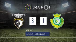 Liga NOS (13ªJ): Resumo Portimonense 3-1 Vitória FC