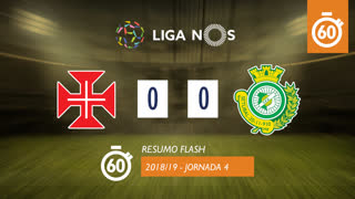 Liga NOS (4ªJ): Resumo Flash Belenenses SAD 0-0 Vitória FC