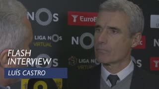Liga (14ª): Flash interview Luís Castro