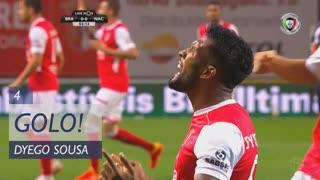 GOLO! SC Braga, Dyego Sousa aos 4', SC Braga 1-0 CD Nacional