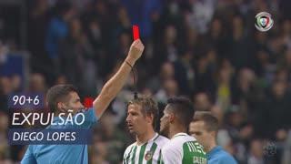 Rio Ave FC, Expulsão, Diego Lopes aos 90'+6'