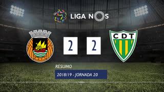 Liga NOS (20ªJ): Resumo Rio Ave FC 2-2 CD Tondela