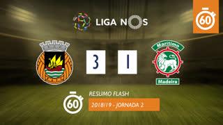 Liga NOS (2ªJ): Resumo Flash Rio Ave FC 3-1 Marítimo M.
