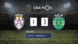 Liga NOS (21ªJ): Resumo CD Feirense 1-3 Sporting CP