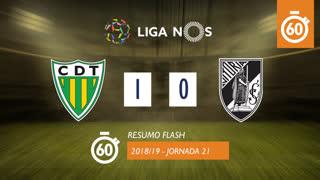 Liga NOS (21ªJ): Resumo Flash CD Tondela 1-0 Vitória SC