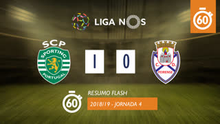 Liga NOS (4ªJ): Resumo Flash Sporting CP 1-0 CD Feirense