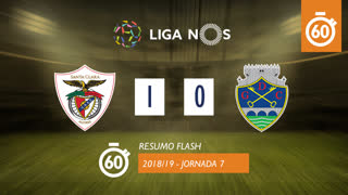 I Liga (7ªJ): Resumo Flash Sta. Clara 1-0 GD Chaves