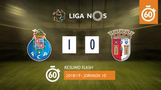 Liga NOS (10ªJ): Resumo Flash FC Porto 1-0 SC Braga