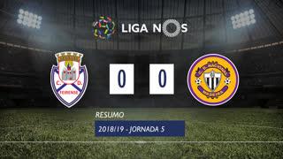 Liga NOS (5ªJ): Resumo CD Feirense 0-0 CD Nacional