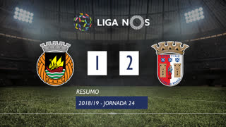 Liga NOS (24ªJ): Resumo Rio Ave FC 1-2 SC Braga