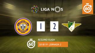 Liga NOS (2ªJ): Resumo Flash CD Nacional 1-2 Moreirense FC