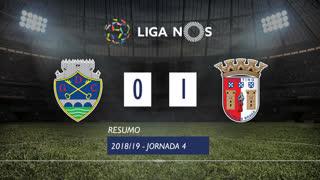 Liga NOS (4ªJ): Resumo GD Chaves 0-1 SC Braga