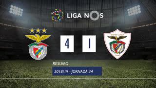 Liga NOS (34ªJ): Resumo SL Benfica 4-1 Sta. Clara