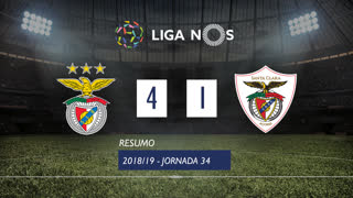 I Liga (34ªJ): Resumo SL Benfica 4-1 Santa Clara