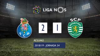 Liga NOS (34ªJ): Resumo FC Porto 2-1 Sporting CP