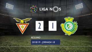 Liga NOS (18ªJ): Resumo CD Aves 2-1 Vitória FC