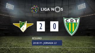 Liga NOS (22ªJ): Resumo Moreirense FC 2-0 CD Tondela