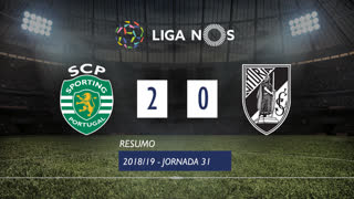 Liga NOS (31ªJ): Resumo Sporting CP 2-0 Vitória SC
